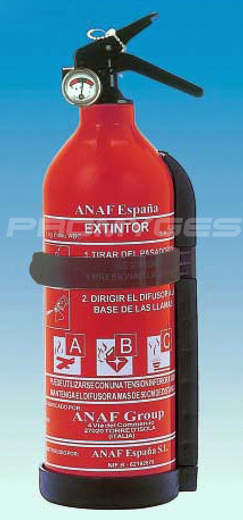 EXTINTOR 1 KG CON SOPORTE